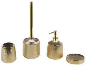 Conjunto de 4 peças de casa de banho dourado PINTO