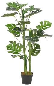 280182 vidaXL Planta costela-de-adão artificial com vaso 100 cm verde