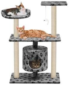 170513 vidaXL Árvore para gatos c/postes arranhadores sisal 95 cm cinzento