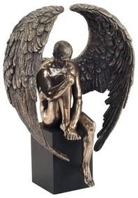Estatuetas Signes Grimalt  Figura Homem Asas Pedestal
