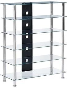 280097 vidaXL Suporte de Hi-Fi 90x40x113 cm vidro temperado transparente