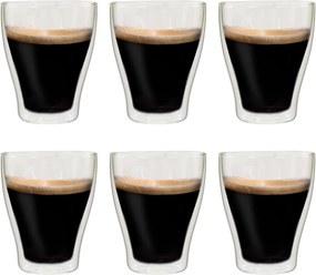 Copos para latte macchiato de parede dupla 6 pcs 370 ml
