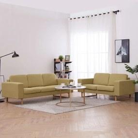2 pcs conjunto de sofás tecido verde