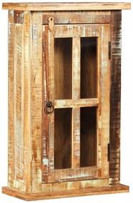 245139 vidaXL Armário de parede em madeira recuperada maciça 44x21x72 cm