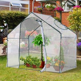 Outsunny Estufa de jardim transparente para Plantas 180x105x150cm