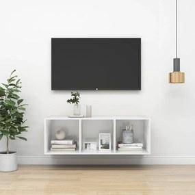 805486 vidaXL Armário de parede p/ TV 37x37x107 cm contrapl. branco brilhante