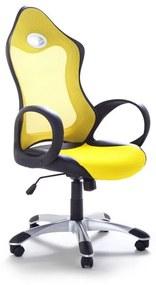 Cadeira de escritório giratória e ajustável amarela  iCHAIR