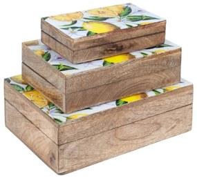 Malas, carrinhos de Arrumação Signes Grimalt  Set 3 Caixas Limões