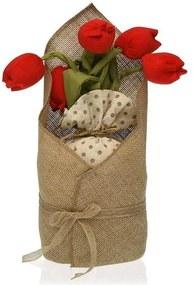 Fixador de portas Têxtil (15 x 33 x 14 cm) Tulipa