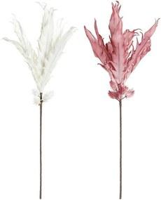Ramalhetes DKD Home Decor Branco Cor de Rosa EVA (Acetato Vinílico Etileno) (2 pcs)