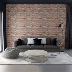 147195 vidaXL Painéis de parede 3D c/ design tijolos vermelhos 11 pcs EPS
