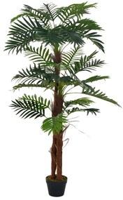 280194 vidaXL Palmeira artificial com vaso 165 cm verde