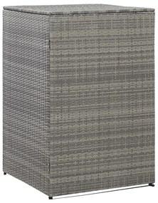 46731 vidaXL Unidade arrumação caixotes lixo 76x78x120 cm vime PE antracite