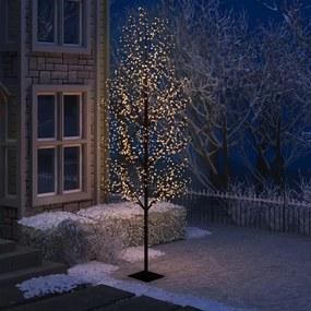 51274 vidaXL Árvore de Natal 1200 LED flor cerejeira luz branco quente 400cm