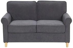 Sofá de 2 lugares em veludo cinzento escuro RONNEBY