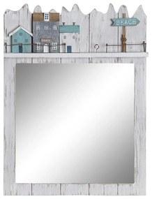 Espelho de parede DKD Home Decor Beach Madeira MDF (30 x 4 x 40 cm)