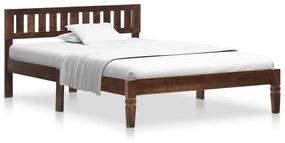 288405 vidaXL Estrutura de cama 120 cm madeira de mangueira maciça