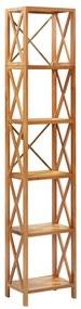 325578 vidaXL Estante com 6 prateleiras 40x30x205 cm madeira carvalho maciça