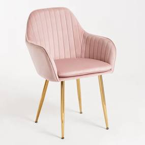 Cadeira Norbana Gold Cor: Rosa