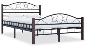 285292 vidaXL Estrutura de cama 120x200 cm metal preto