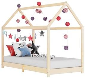 283348 vidaXL Estrutura de cama para crianças 90x200 cm pinho maciço