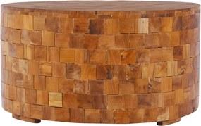 Mesa de centro 60x60x35cm madeira de teca maciça