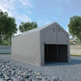 275894 vidaXL Tenda de armazenamento PVC 4x8 m cinzento