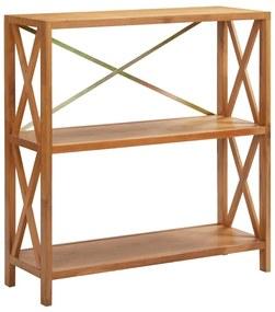 325571 vidaXL Estante com 3 prateleiras 80x30x87 cm madeira carvalho maciça
