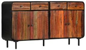 282885 vidaXL Aparador de madeira reciclada maciça 140x35x76 cm