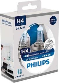 CONJUNTO 2x Lâmpada de carro Philips WHITEVISION 12342WHVSM H4 PX26d/60W/55W/12V