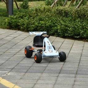 HOMCOM Go kart de pedais para crianças acima de 3 anos com freio assento ajustável max. 35 kg 97x66x59cm Azul