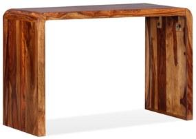 244356 vidaXL Aparador/secretária em madeira de sheesham maciça castanho
