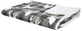 Manta cinzenta e branca 150 x 200 cm LUTTO