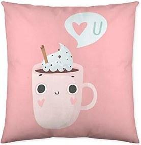 Capa de travesseiro Costura Funny Cups (50 x 50 cm)