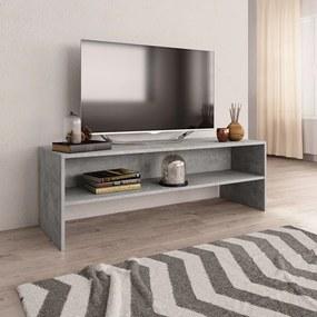 800040 vidaXL Móvel de TV 120x40x40 cm contraplacado cinzento cimento