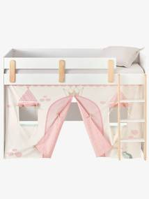 Tenda cama Princesa Fada rosa claro liso com motivo