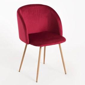 Cadeira Ornes Veludo Cor: Vermelho
