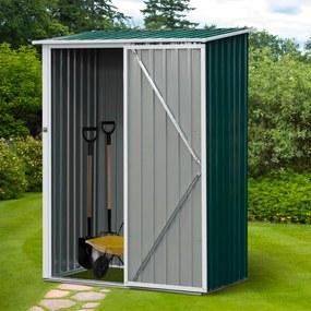 Outsunny Galpão de jardim com porta com trava 143x89x186cm