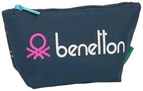 Nécessaire Escolar Benetton Dot Com Azul Marinho