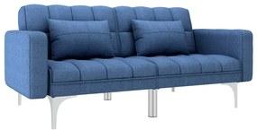 247220 vidaXL Sofá-cama tecido azul