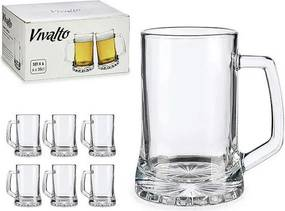 Jarra de Cerveja Cristal (6 Peças) (8,5 x 13 x 12 cm)