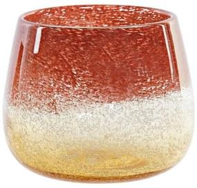 Vaso DKD Home Decor Cristal Terracota (20 x 20 x 16 cm)