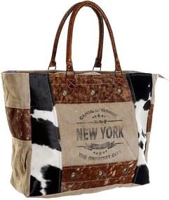 Bolsa DKD Home Decor Nova Iorque Pele Algodão (65 x 21 x 62 cm)