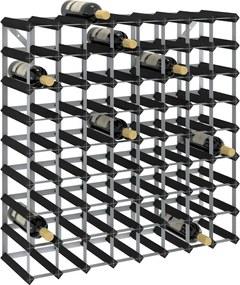 Garrafeira para 72 garrafas madeira de pinho maciça preto