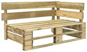 44695 vidaXL Banco de canto em paletes para jardim madeira