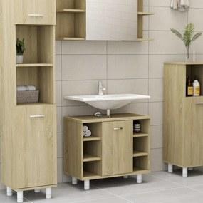 802636 vidaXL Armário casa de banho 60x32x53,5 cm contrapl. carvalho sonoma