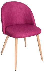 Cadeira Bristol Tecido Cor: Rosa Escuro