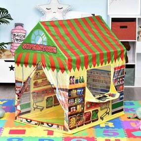 HOMCOM Supermercado para as crianças brincarem Zona Infantil Fácil de Montar Presente para Crianças 93x69x103cm 0,75 kg