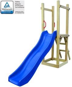 274718 vidaXL Casa c/ escorrega e escada 237x60x175 cm pinho