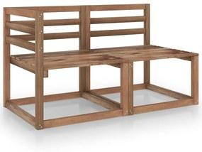 316194 vidaXL 2 pcs conj. lounge jardim madeira de pinho impregnada castanho